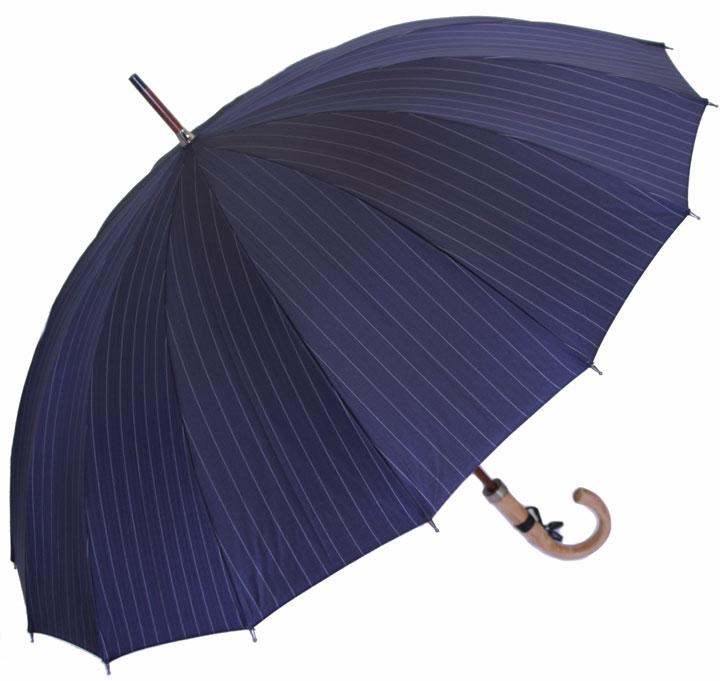 ◆前原光榮Euro Prince16 (ダークナイト・ネイビー )「皇室御用達」前原光榮商店 紳士雨傘)お名前彫りなしは即納できます御名前入れありは12/6(水)頃仕上がり予定