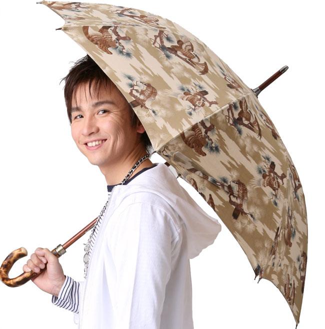 WAKAOワカオ◆男の日傘 男性用日傘◆ミスター・シーグル◆ベージュ心斎橋みや竹オリジナル