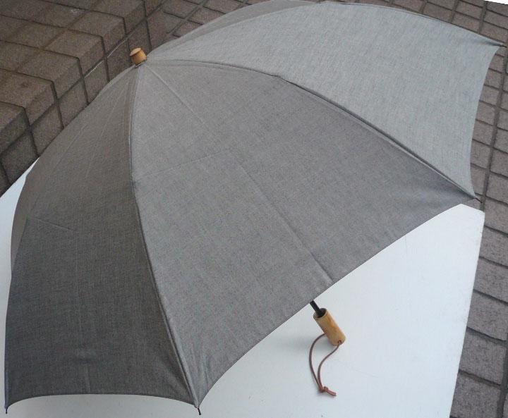 WAKAOワカオ◆二段折傘◆男の日傘 男性用日傘◆アンソニー◆質感のグレー