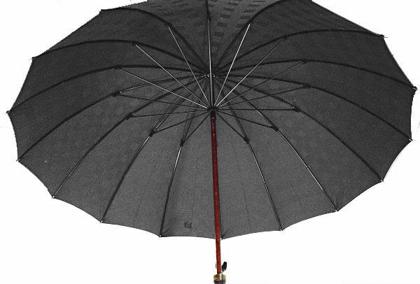 ■前原光榮Gentle 16(ブラック)前原光栄商店 紳士雨傘お名前彫りなしは即納できますお名前彫り有の場合は7/11(水)仕上がり予定心斎橋みや竹オリジナル仕様皇室御用達の職人がつくる紳士傘誕生祝や退職祝にもお薦めです