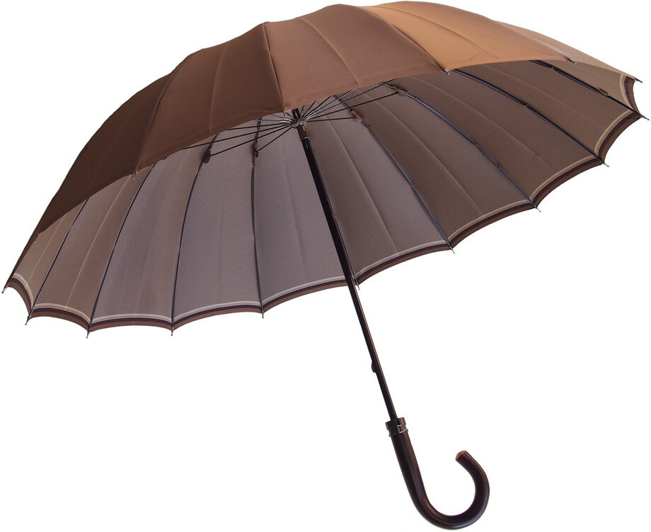 Komiya◆La Cima(ラシーマ)◆雨晴兼用 紳士傘色【ヴィンテージ・ベージュ】カーボン16間、高密度の甲州織に撥水耐水UV加工を施した雨晴兼用ハイエンドモデル。お名前入れなしは即納OKお名前入れ有の場合は8/25(土)仕上がり予定