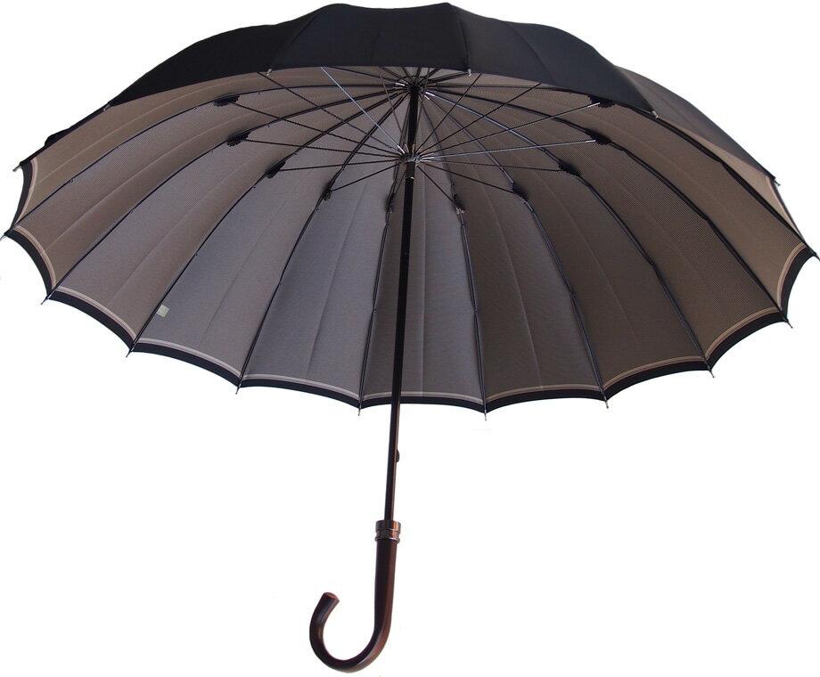 Komiya◆La Cima(ラシーマ)◆雨晴兼用 紳士傘色【オールドアフィニティ・ブラック】カーボン16間、高密度の甲州織に撥水耐水UV加工を施した雨晴兼用ハイエンドモデル。お名前入れなしは即納OKお名前入れ有の場合は8/25(土)仕上がり予定