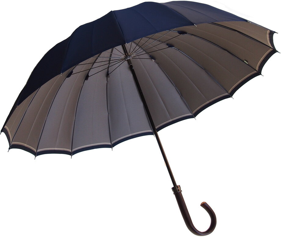 Komiya◆La Cima(ラシーマ)◆雨晴兼用 紳士傘色【ダークリッチ・ネイビー】カーボン16間、高密度の甲州織に撥水耐水UV加工を施した雨晴兼用ハイエンドモデル。お名前入れなしは即納OKお名前入れ有の場合は8/25(土)仕上がり予定