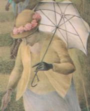 ◆Empress (オフホワイト) 所要約3ヶ月「皇室御用達」前原光榮商店 婦人長傘ハンドルは牛革トカゲ型押し石突は黒塗り合板の仕様です