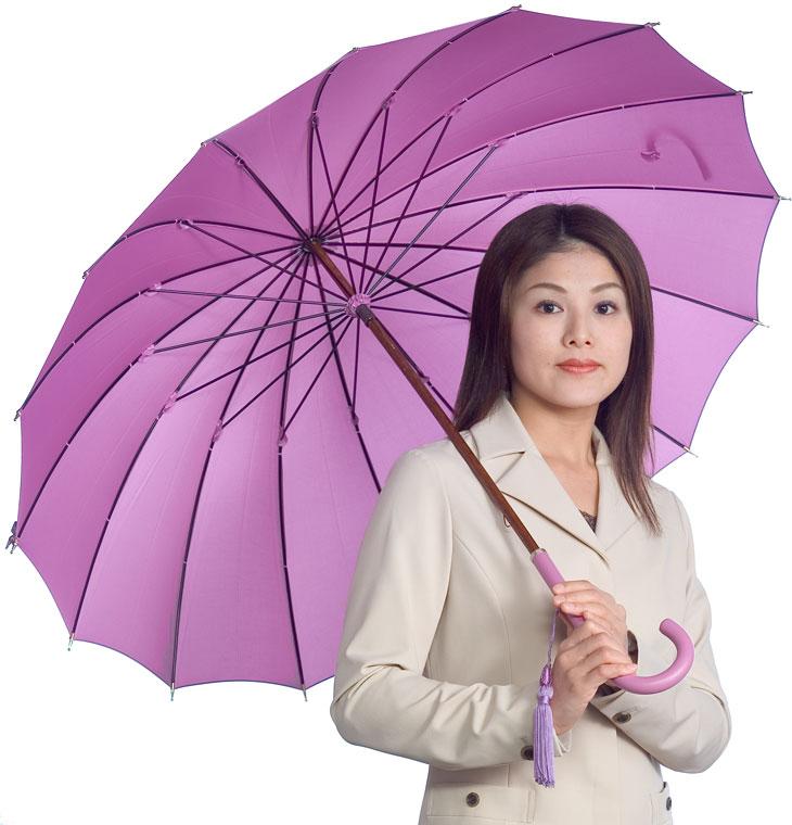 ◆受注作成◆グループA8月上旬仕上予定皇室御用達 前原光榮商店 婦人傘Princess16 受注作成プレミアムファクトリーとも生地外袋つき みや竹オリジナルモデル楓 寒竹 合皮 三種類のハンドルが選べます