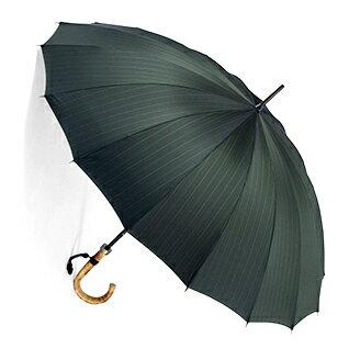 ■前原光榮Euro Prince16 ( バーリィウッド・グリーン )「皇室御用達」前原光榮商店 紳士雨傘お名前彫りなしは即納できますお名前彫り有の場合は9/1(土)仕上がり予定