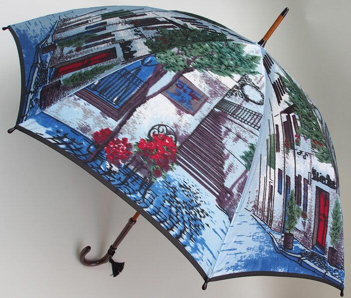 【NEW】街路樹(長傘)モンブランヤマグチ ほぐし織り 婦人雨傘軽量カーボン骨バージョン(約360g)