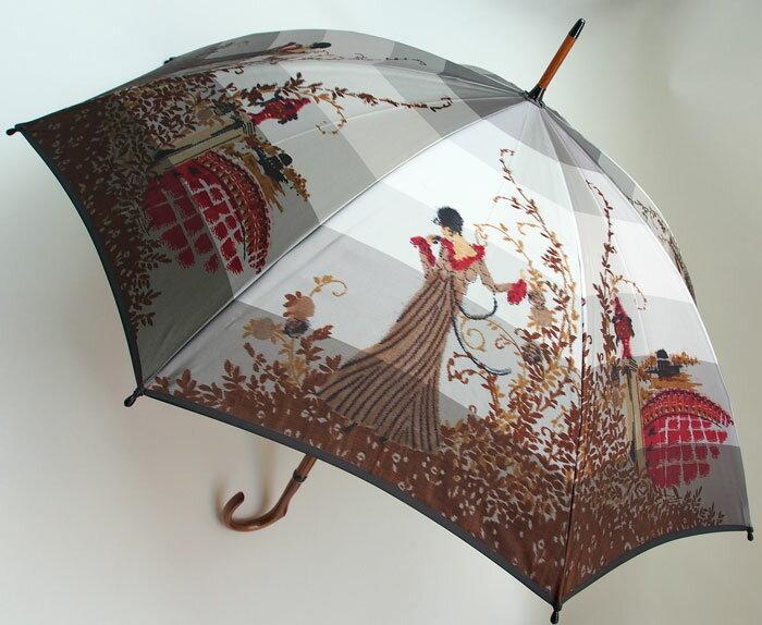 ◆舞姫 (フラワーガール) レイユールrayures【モンブランヤマグチ ほぐし織り 】最高級婦人長傘