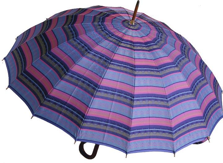 【受注作成品】8月上旬仕上予定前原光榮シエラザード(トリスタンブルー) 「皇室御用達」 前原光榮商店婦人雨傘※現バージョンは楓ウェイブ型ハンドルになりタッセル(房)がつきますみや竹オリジナル仕様