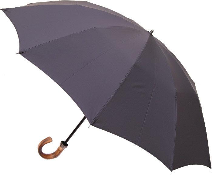 ◆komiyaプレシャス10◆NEW◆高性能撥水ミラトーレ生地 籐ハンドル折畳傘(ピュアブラック)紐つき外袋標準装備みや竹オリジナル仕様長傘感覚で使えるハイブリッドな折畳傘です。