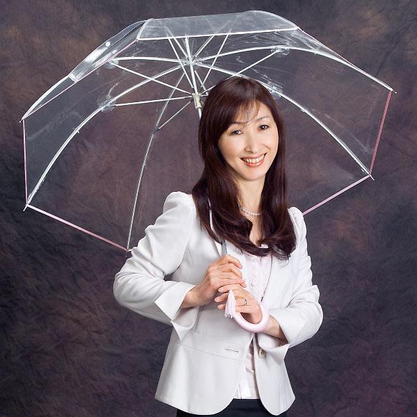 縁結(エンユウ)ピンク園遊会特別仕様宮内庁御用達の高級ビニール傘日本を代表するホワイトローズ社の名作★ギフト包装対応できます★
