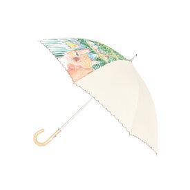 【レディース傘】マンハッタナーズ傘「シゲオと小鳥たち」婦人用晴雨兼用傘ショートタイプ