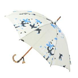 レディースパラソル(日傘)ゆかたにピッタリ木棒手開(カモメ図)ファッション雑貨・小物・バッグ・パラソル・日傘・女性用