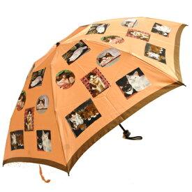 婦人傘マンハッタナーズ傘MASTERPIELE COLLECTION「名画収集」レディースミニ雨傘(折畳)