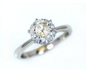 2.5ct プラチナ ダイヤモンド 6爪 リング (Hカラー・I1クラス・fairカット) 鑑定書 エンゲージリング 婚約指輪 ダイヤ 指輪 天然ダイヤ 結婚 婚約 女性用 レディース ブライダルジュエリー ファッション