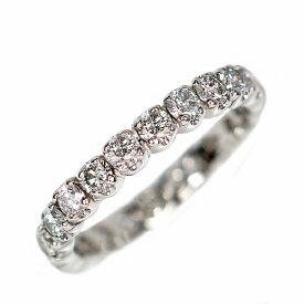2.0ct ダイヤモンド プラチナ フルエタニティ リング 永遠 天然 Pt900