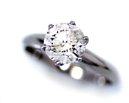 Pt900 1.7ct ダイヤモンド 6爪 リング 大粒 プラチナ 1粒 1石 鑑定書