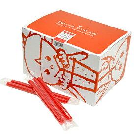 タピオカストロー 赤 12mmx18cm 170本 【常温】