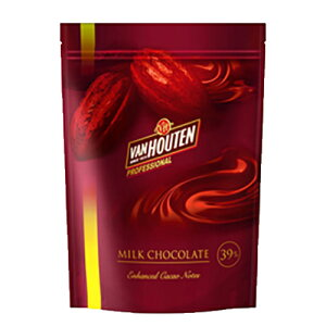VANHOUTEN (バンホーテン) 製菓用チョコ NEWミルクチョコレート 39% 1kg (夏季冷蔵) 手作りバレンタイン