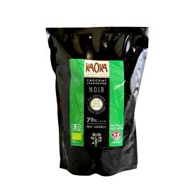 KAOKA (カオカ) オーガニック 製菓用チョコ リオアリバ カカオ分 70% 1kg(旧エクアトゥール)(夏季冷蔵) 手作りバレンタイン