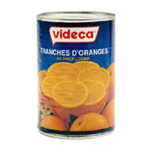 ビデガ オレンジ スライス 皮付缶詰 4号缶 410g(常温)