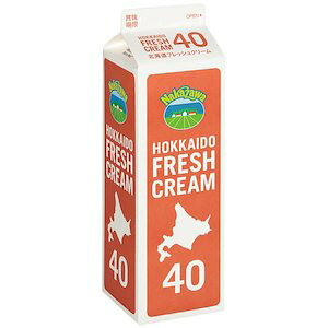 【予約商品】中沢乳業 生クリーム 北海道フレッシュクリーム 40% 1000ml 1L【冷蔵】