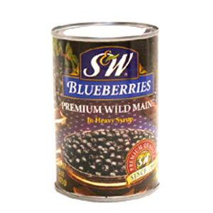 アメリカ産 S&W ブルーベリー 4号缶 425g【常温】