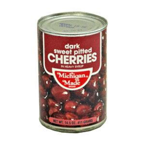 アメリカ産 ミシガン ダークスウィートチェリー缶詰 ヘビーシラップ 4号缶 411g【常温】