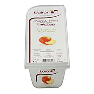 boiron (ボワロン) ペッシェブランシュ 白桃 ピューレ 1kg ボアロン(冷凍)