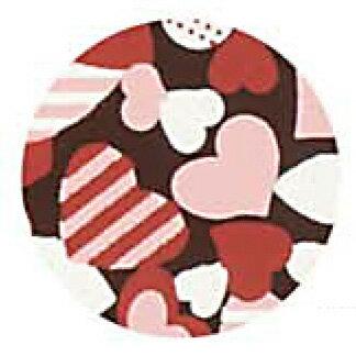 チョコレート 転写シート カラフルハート 3色 1枚【夏季冷蔵】