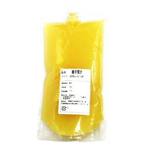 愛媛果汁 柚子果汁 スクリューパック 1kg (常温)