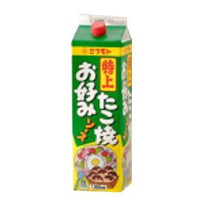 (お取り寄せ商品)密本 特上 業務用お好み焼きソース たこ焼きソース 1.8L 1800ml×8(常温)