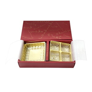 TNトリフ生チョコセットケース 赤(ボルドー)78×170×35mm×20セット トリュフ箱(常温)