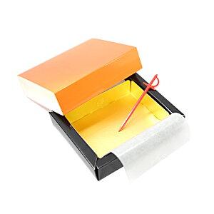 ガナッシュケース 2cm角オレンジ 88×69×23mm×20セット OBS-2012 生チョコ トリュフ箱(常温)