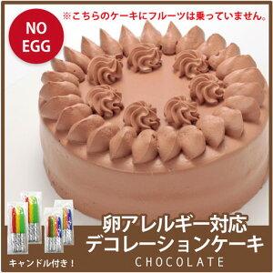クリスマス ケーキ 2020 【アレルギー対応】卵アレルギー対応 チョコ デコレーションケーキ 卵 アレルギー お取り寄せ グルメ 食品