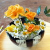 A pinholder of the stylish glass! I keep floral art <glass studio CRAFTHOUSE>