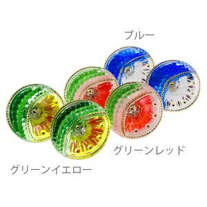 【メール便対応可】チェコ 伝統工芸品 ガラスボタン イヤリング ソレイユ