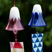 吹きガラス職人手作り!夏を彩るモダンなガラスの風鈴風鈴富士山<ガラス工房CRAFTHOUSE>