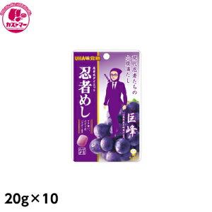 【忍者めし ぶどう 20g×10】 ユーハ味覚糖 おかし お菓子 おやつ 駄菓子 こども会 イベント 景品