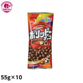 【Eサイズ ポリッピーチョコ 55g×10】 でん六  おかし お菓子 おやつ 駄菓子 こども会 イベント 景品