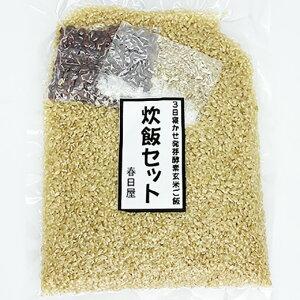 ポスト投函 3日寝かせ炊飯キット 1セット ご自宅で作る発芽酵素玄米ごはん 【発芽玄米 酵素玄米 発酵玄米 寝かせ玄米 玄米ごはん 玄米ご飯 おいしい玄米 美味しい玄米 残留農薬ゼロ 送