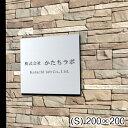 【送料無料】看板 プレート 表札 会社 事務所 【S】 200mm×200mm 正方形 シルバー ステンレス調 オフィス 法人 企業 …