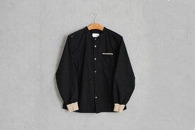 【新作・受注商品】motone ユニセックス マルチポケットシャツ 2nd (黒×羊)S・M・L [ 3週間後の発送 ]