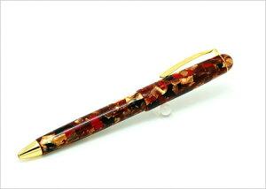京都セルロイド ボールペン 黒檀 シガータイプ ペン セルロイド 和風 和 高級 男性用 女性用 高級感 日本製 プレゼント ギフト 贈り物 誕生日 母の日 父の日