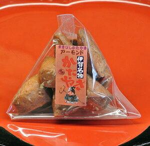 まきびし アーモンド 60g かたやき(堅焼き)せんべい 日本一堅い煎餅 TV・雑誌でも紹介 伊賀 老舗 土産・おみやげにもおすすめ 和菓子(お菓子・焼き菓子) 父の日 プレゼント・ギフト 伊賀菓庵山本