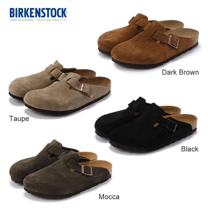 【送料無料】 国内正規品 Birkenstock BOSTON ビルケンシュトック ボストン 【Dark_Brown Taupe Black Mocca】 スウェード スエード SUEDE 本革 メンズ レディース 15SS 1505