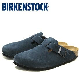 【セール】43%OFF 送料無料 ビルケンシュトック ボストン レディース メンズ サンダル コンフォートサンダル 青 ブルー 本革 スエード レザー リラックスサンダル ベストセラー 幅狭 ナロー BIRKENSTOCK BOSTON BLUE