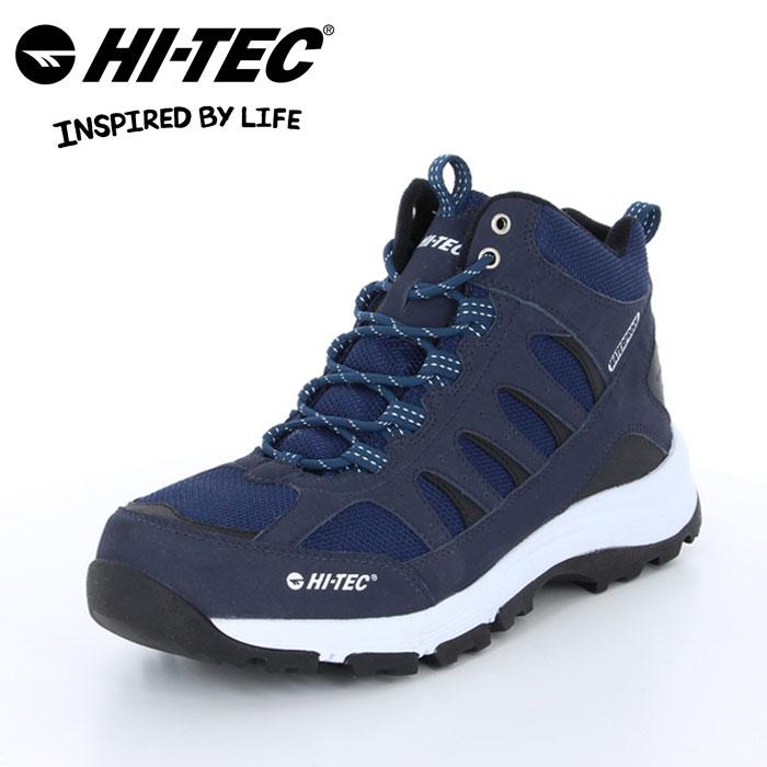 送料無料 ハイテック ロックネス トレッキング ブーツ 靴 くつ クツ メンズ レディース アウトドア キャンプ ハイキング 山歩き 防水仕様 ネイビー レイン 雪 HI-TEC BTU12 LOCHNESS WP NAVY 53840935