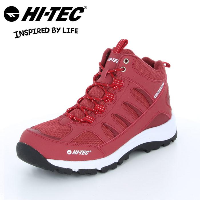 送料無料 ハイテック ロックネス トレッキング ブーツ 靴 くつ クツ メンズ レディース アウトドア キャンプ ハイキング 山歩き 防水仕様 赤 レッド レイン 雪 HI-TEC BTU12 LOCHNESS WP RED 53840932