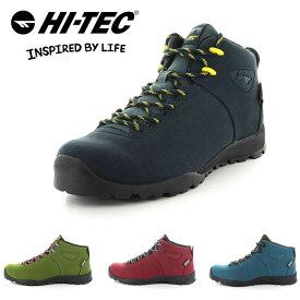 ハイテック アオラキ 防水 スニーカー トレッキングシューズ アウトドアシューズ メンズ レディース 靴 黒 ブラック カーキ ターコイズ 赤 レッド HI-TEC HKU13 AORAKI CLASSIC WP 53143002 53143003 53143005 53143006 送料無料